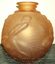 R. Lalique Vase Fake