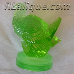 Dindon R Lalique Green Opalescent Seal by Rene Lalique Made From An Ashtray