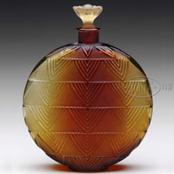 Rene Lalique Perfume Bottle with Replaced Stopper