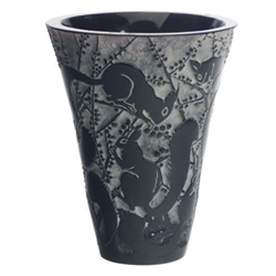 R Lalique Senart Vase by Rene Lalique Missing The Top Rim