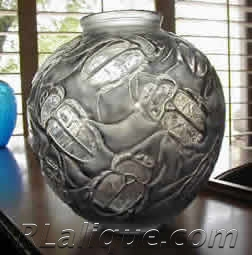 R.Lalique Gros Scarabees Vase Fake - Not by Rene Lalique