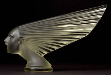 Victorie Pale Green Persons Majestic Car Mascot: A Copy Of A Rene Lalique Design