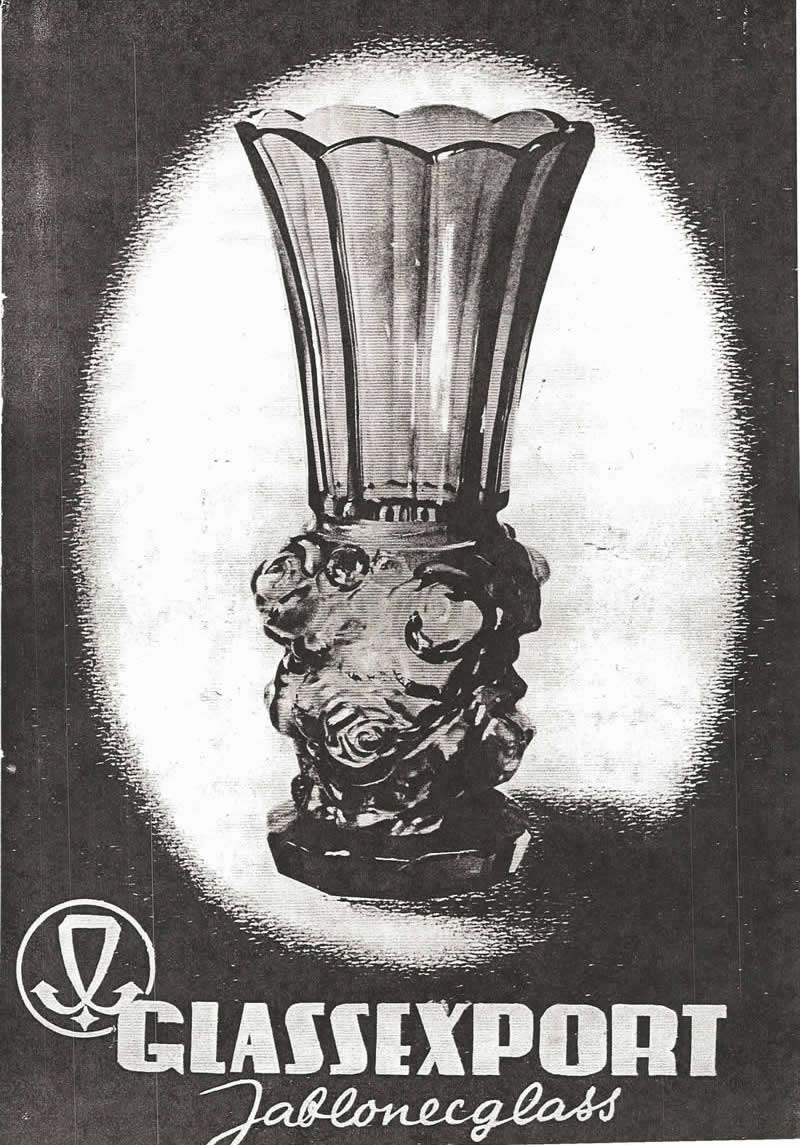 Glassexport Jablonecglass Glass Catalogue of Czechoslovakian Glass With Is Often Found With Forged Rene Lalique Signatures: Cover Page