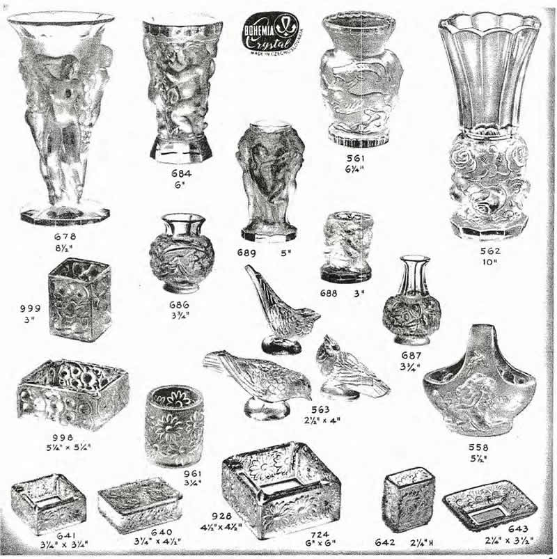 Weil Ceramics & Glass Inc. Catalog For Barolac Sculpture Glass - Czech Bohemian Glass That Is Often Found With Fake or Forged R. Lalique France Signatures: Page 2