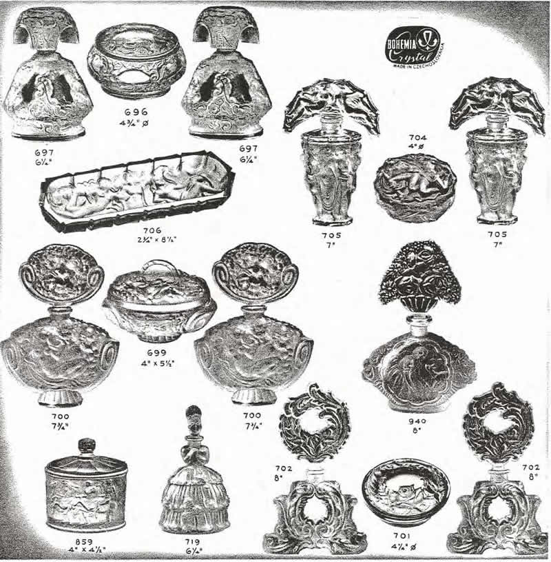 Weil Ceramics & Glass Inc. Catalog For Barolac Sculpture Glass - Czech Bohemian Glass That Is Often Found With Fake or Forged R. Lalique France Signatures: Page 4