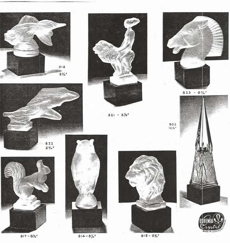 Weil Ceramics & Glass Inc. Catalog For Barolac Sculpture Glass - Czech Bohemian Glass That Is Often Found With Fake or Forged R. Lalique France Signatures: Page 7
