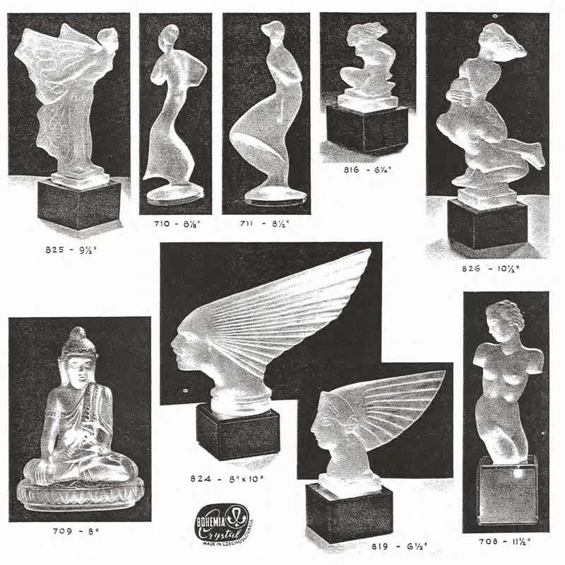 Weil Ceramics & Glass Inc. Catalog For Barolac Sculpture Glass - Czech Bohemian Glass That Is Often Found With Fake or Forged R. Lalique France Signatures: Page 8