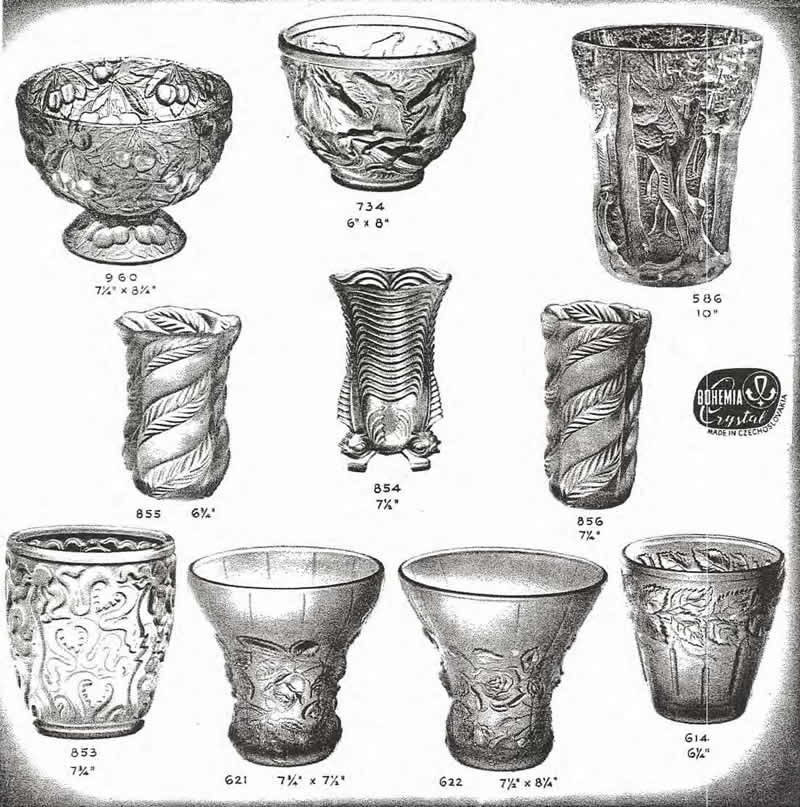 Weil Ceramics & Glass Inc. Catalog For Barolac Sculpture Glass - Czech Bohemian Glass That Is Often Found With Fake or Forged R. Lalique France Signatures: Page 10
