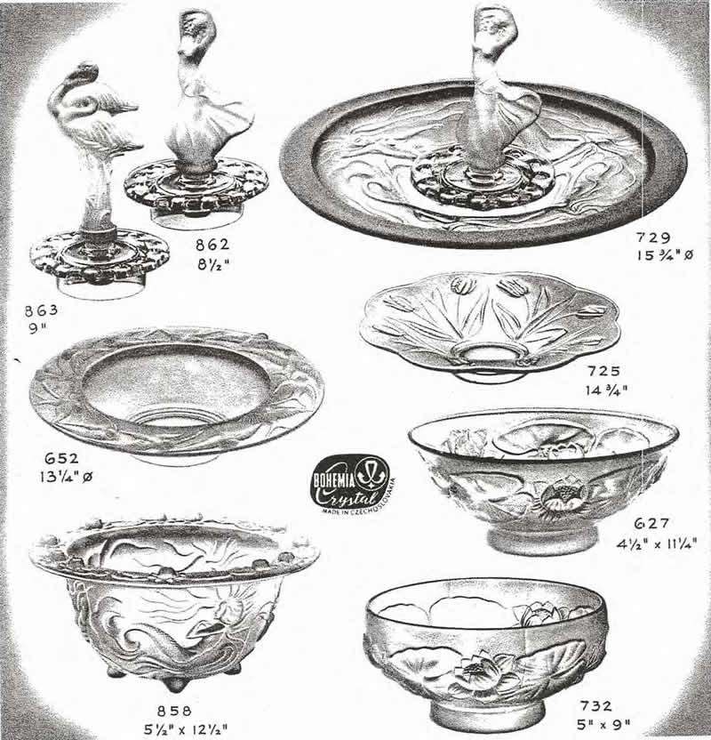 Weil Ceramics & Glass Inc. Catalog For Barolac Sculpture Glass - Czech Bohemian Glass That Is Often Found With Fake or Forged R. Lalique France Signatures: Page 12