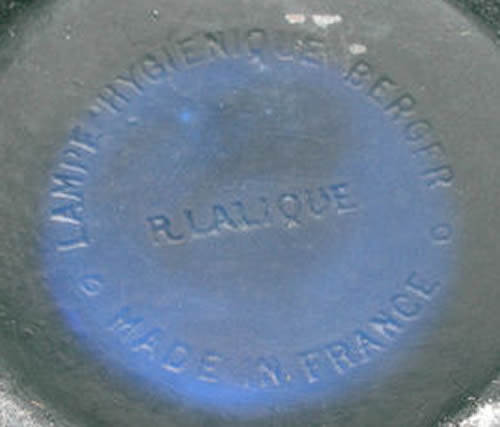 Rene Lalique Signature On An Artichaut Perfume Burner Lampe Hygienique Berger R. Lalique Made In France