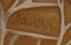 Lalique Signature on a Poissons Box