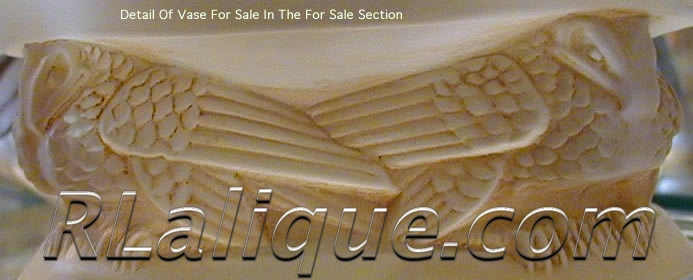 R Lalique Frise Aigles Vase by Rene Lalique Close-Up Photo