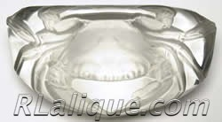 R.Lalique Crab Paperweight by Rene Lalique