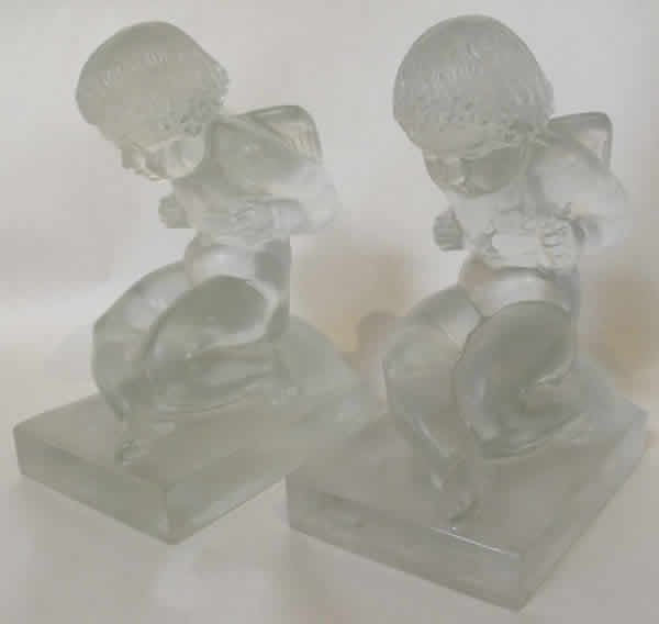 Rene Lalique Amour Bookend