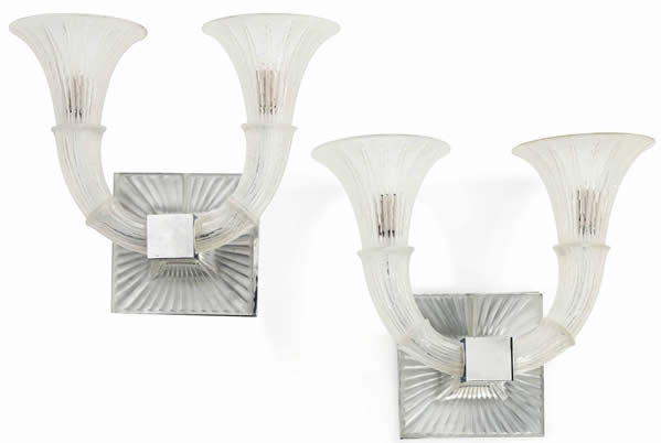 R. Lalique Amsterdam Sconce