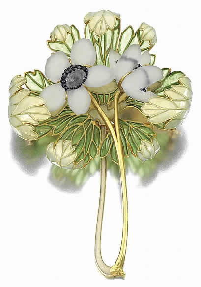 Rene Lalique Anemones Brooch
