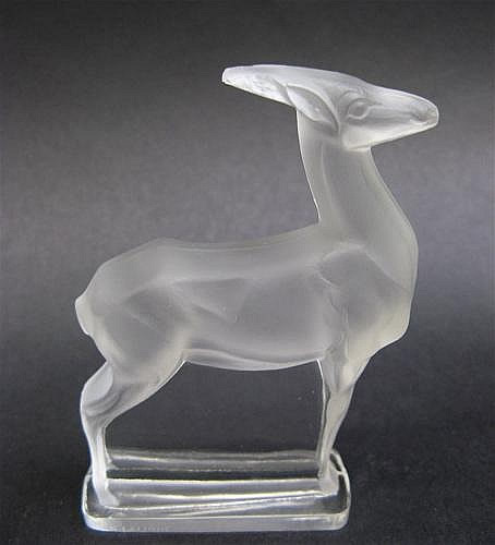 Rene Lalique  Antelope Paperweight