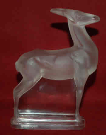 Rene Lalique  Antilope Paperweight