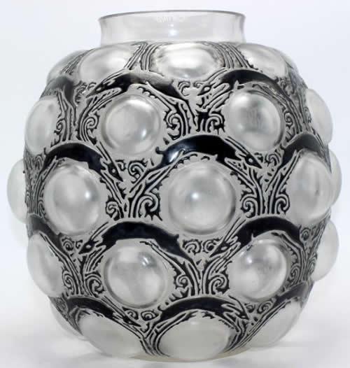 Rene Lalique Vase Antelopes