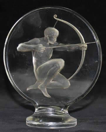 Rene Lalique Hood Ornament Archer