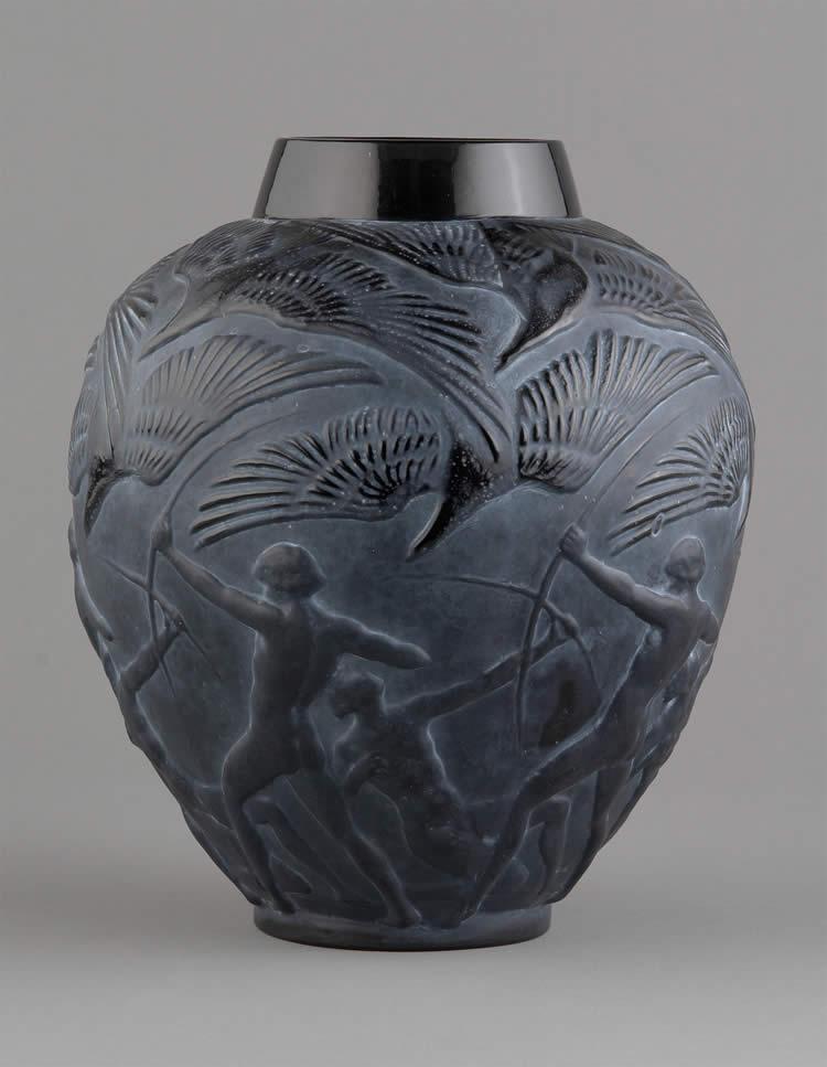 Rene Lalique Vase Archers 1244 Rlalique