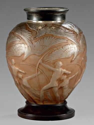 Rene Lalique Archers Vase Rlalique