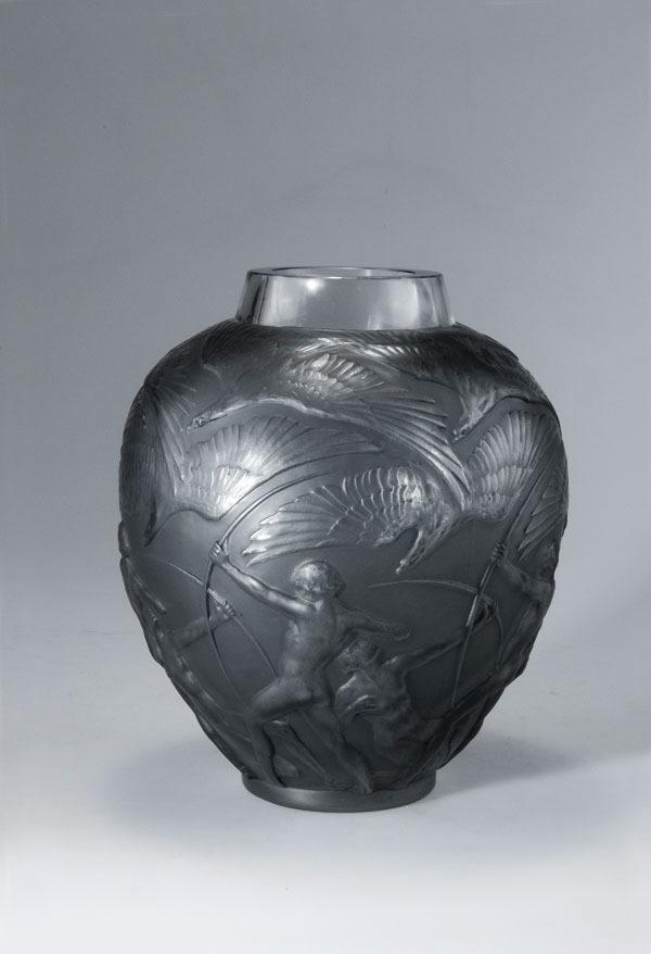 Rene Lalique Vase Archers