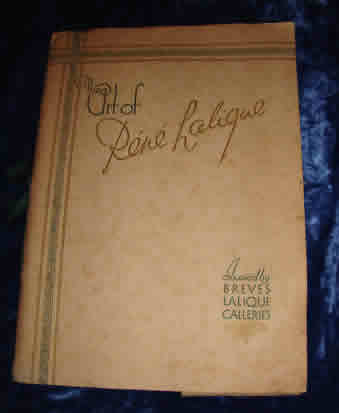 Rene Lalique The Art Of Rene Lalique Breves Lalique Galleries Catalogue