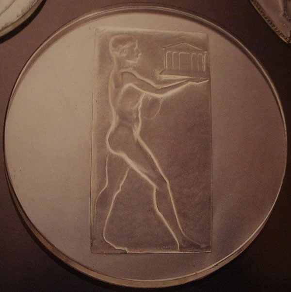 Rene Lalique Athlete Medallion