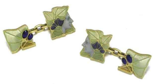 Rene Lalique Bacchus Cufflink
