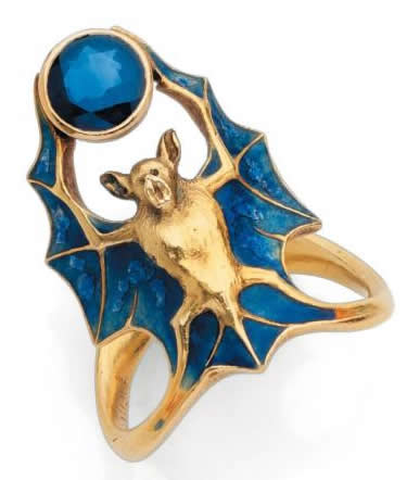 Rene Lalique Bat Ring