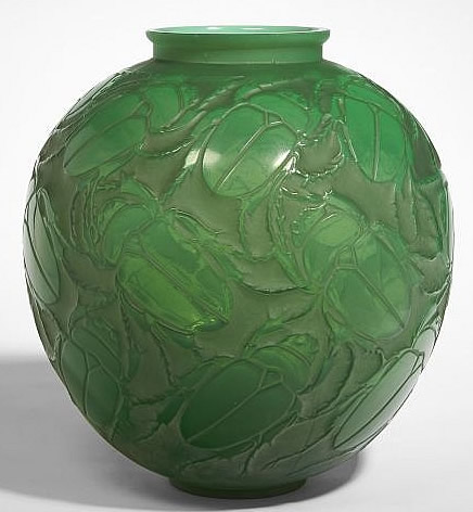 Rene Lalique Vase Beetle