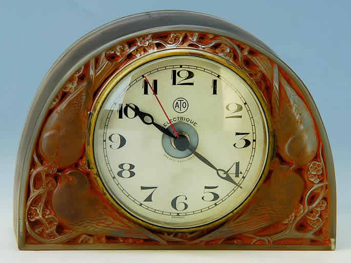 Rene Lalique Birds Clock