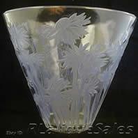 Rene Lalique Vase Bluets