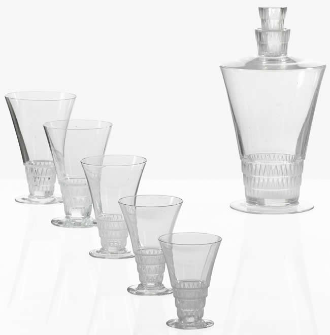 Rene Lalique Tableware Bourgueil