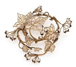 Rene Lalique Branches Leaves and Buds Pendant