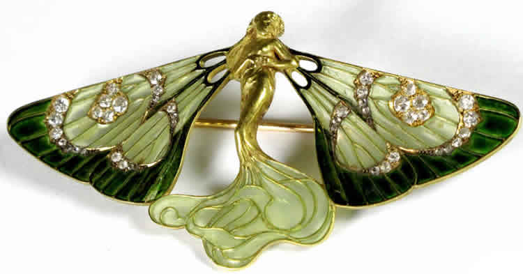 Rene Lalique Butterfly Nymph Brooch