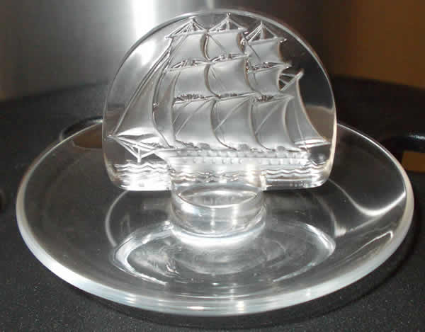 R. Lalique Caravelle Ashtray