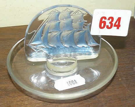 Rene Lalique Caravelle Ashtray