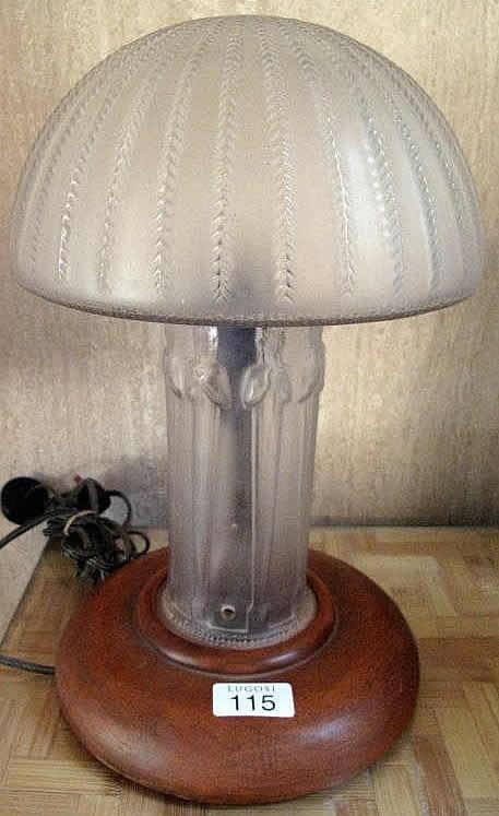 Rene Lalique Lamp Cariatides