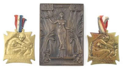 Rene Lalique Plaque Centenary of the Republic of Chile 1810-1910