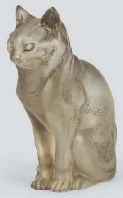 R. Lalique Chat Assis Decoration