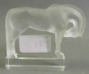 R. Lalique Cheval Paperweight