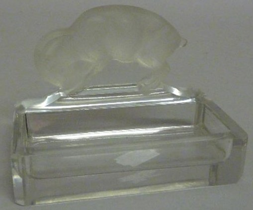 Rene Lalique Chevre Ashtray