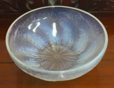 Rene Lalique Opalescent Bowl Chicoree