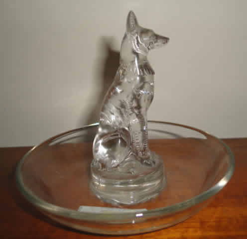 Rene Lalique Chien Ashtray
