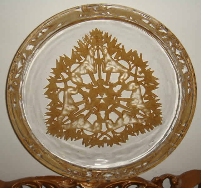 Rene Lalique Chasse Chiens Plate