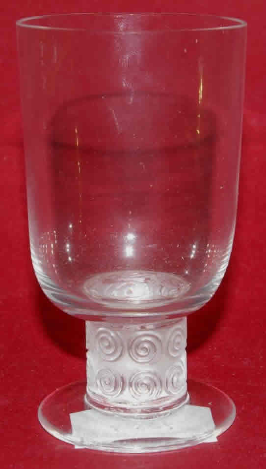 Rene Lalique Chinon Water Glass