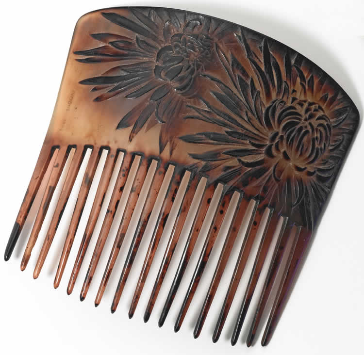 Rene Lalique Chrysantheme Comb