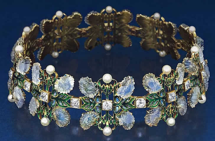 Rene Lalique Chrysanthemum Necklace